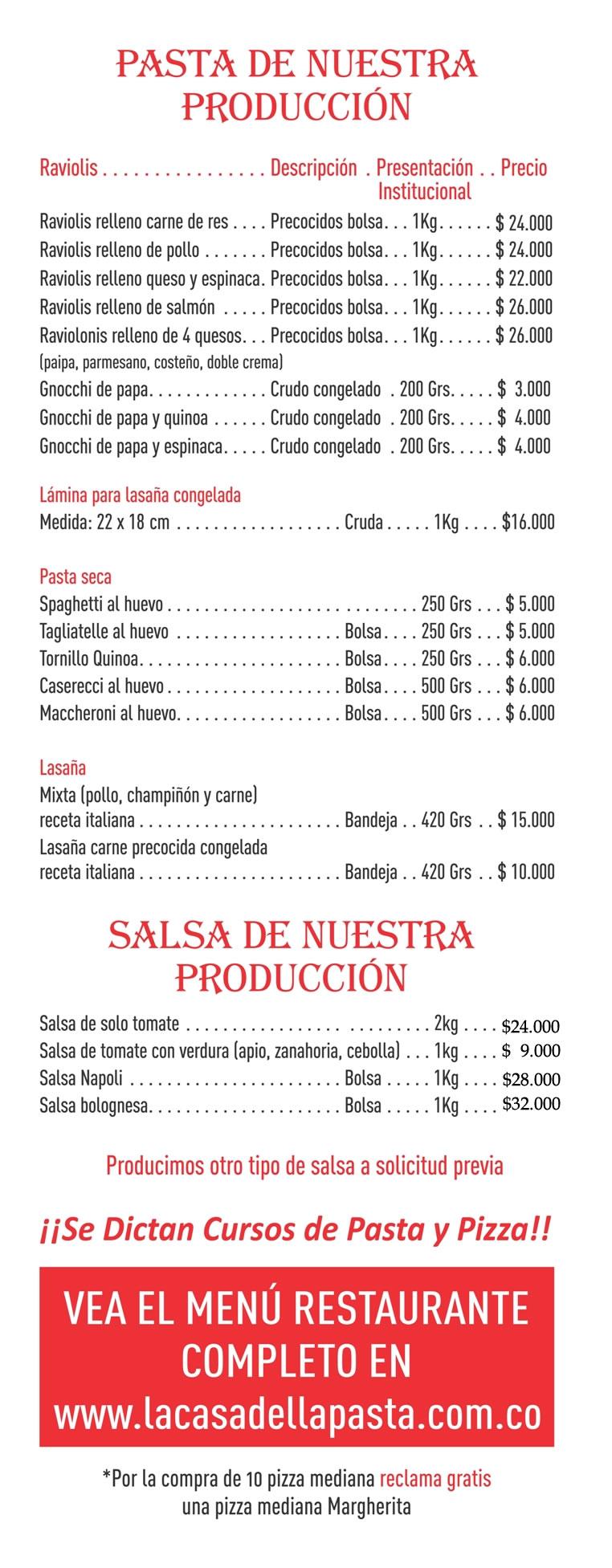 Precios-pasta 2019